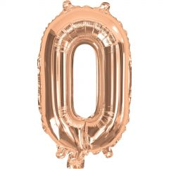 Rose Gold Number 0 Balloon 35cm