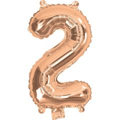 Rose Gold Number 2 Balloon 35cm