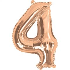 Rose Gold Number 4 Balloon 35cm