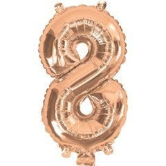 Rose Gold Number 8 Balloon 35cm