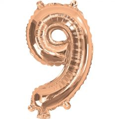 Rose Gold Number 9 Balloon 35cm