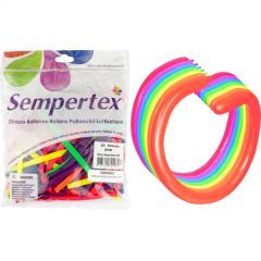 Neon Coloured Modelling Balloons (Pack of 50)