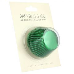 Green Foil Baking Cups 44mm (Pack of 50)