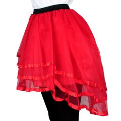 Adult High Low Tutu Red