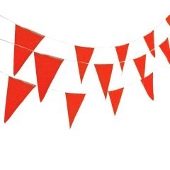 Red Large Plastic Pennant Banner