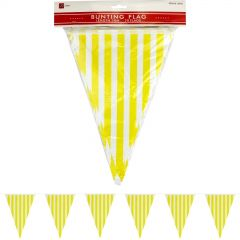 Yellow and White Striped Pennant Flag Banner