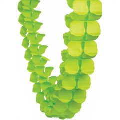 Lime Green Tissue Paper Honeycomb Garland (4m)
