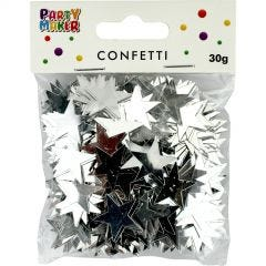 Silver Star Confetti/Table Scatters 30g