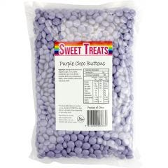Purple Chocolate Buttons (1kg)