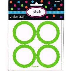 Lime Green Favour Labels (Pack of 20)