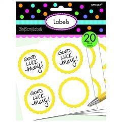Yellow Paper Lolly/Treat Bags (Pack of 12)