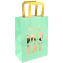 Pastel Mint Green and Gold Luxe Party Bags (Pack of 3)