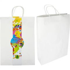 White Paper Gift Bags 45cm (Pack of 2)