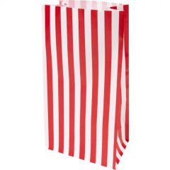 Red and White Stripe Paper Lolly/Treat Bags (Pack of 10)