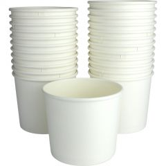 White Paper Treat Cups (Pack of 24)