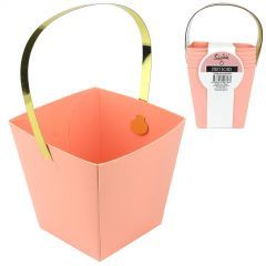 Pastel Coral and Gold Mini Treat Boxes (Pack of 6)
