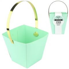 Pastel Mint Green and Gold Mini Treat Boxes (Pack of 6)