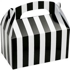 Black and White Striped Lolly/Treat Boxes (Pack of 12)