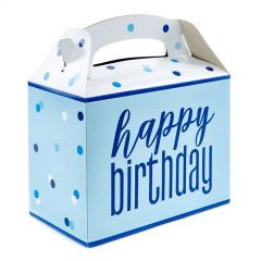 Blue Happy Birthday Lolly/Treat Boxes (Pack of 6)
