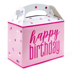 Pink Happy Birthday Lolly/Treat Boxes (Pack of 6)