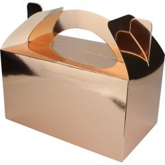 Metallic Rose Gold Lolly/Treat Boxes (Pack of 5)