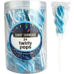 Blue Twirly Pops (Pack of 24)