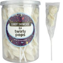 White Twirly Pops (Pack of 24)