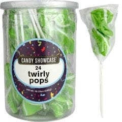 Green Twirly Pops (Pack of 24)