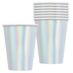 Silver Foil Paper Cups (Pack of 8)