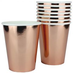 Rose Gold Foil Paper Cups (Pack of 8)