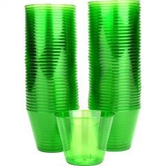 Lime Green Plastic Tumbler Cups (Pack of 72)