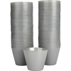 Silver Plastic Tumbler Cups (Pack of 72)
