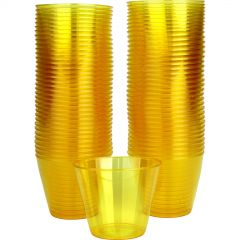 Yellow Plastic Tumbler Cups (Pack of 72)