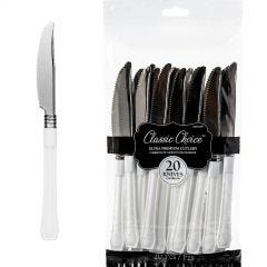 White Plastic Cutlery (Pack of 24)