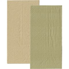 Metallic Gold and Eco Brown Napkins 1/8 GT Fold (Pack of 20)