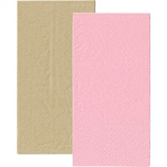 Light Pink and Eco Brown Napkins 1/8 GT Fold (Pack of 20)