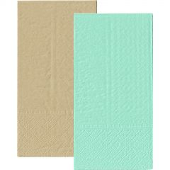 Mint Green and Eco Brown Napkins 1/8 GT Fold (Pack of 20)