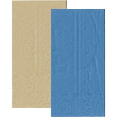 Royal Blue and Eco Brown Napkins 1/8 GT Fold (Pack of 20)
