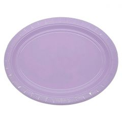 Lavender Oval Large Plastic Plates (Pack of 5)