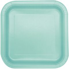 Mint Green Large Paper Plates (Pack of 14)