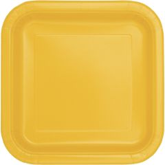 Yellow Large Paper Plates (Pack of 14)