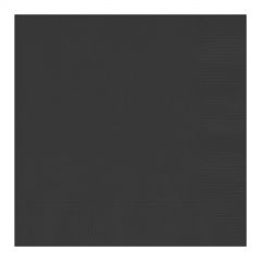 Black Small Napkins (Pack of 20)