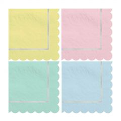 Pastel Pink and White Candy Stripe Large Paper Napkins / Serviettes