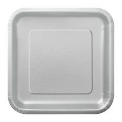 Silver Small Paper Plates (Pack of 16)