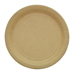 Brown Kraft Paper Small Plates (Pack of 20)