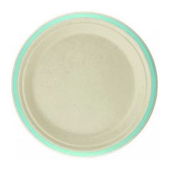 Mint Rim Sugar Cane Small Plates (Pack of 10)