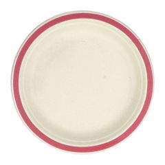 Red Rim Sugar Cane Small Plates (Pack of 10)
