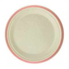 Rose Gold Rim Sugar Cane Small Plates (Pack of 10)