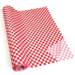 Red and White Checkered Table Roll Tablecloth 30m