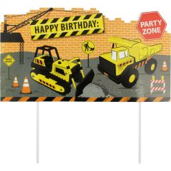 Construction Truck Party Cake Topper